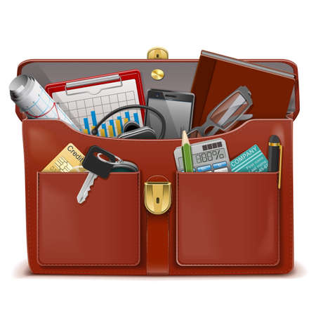 open car: Vector Briefcase with Accessories