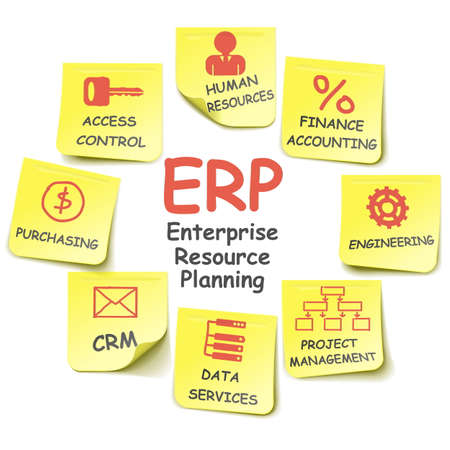 Vector ERP Stickers Illustration