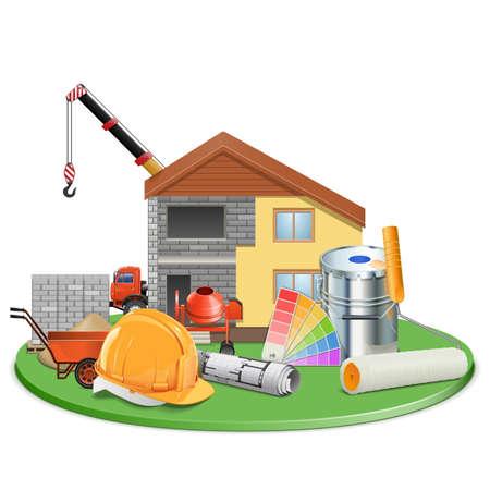 Vector Cottage Construction