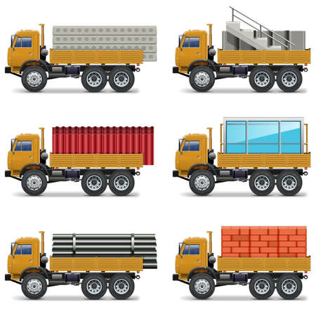 brick work: Vector Construction Trucks