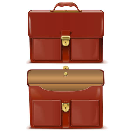 clasp: Briefcase Icons isolated on white background Illustration
