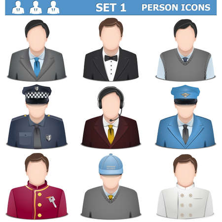 1 person: Person Icons Set 1 isolated on white background