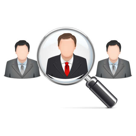 Vector Recruitment Concept isolated on white background