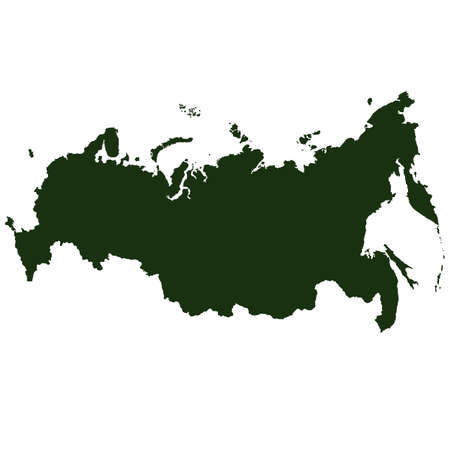 russia map: Vector Russia Pictogram isolated on white background