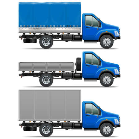 crisper: Vector Lorry Icons Set 1 isolated on white background