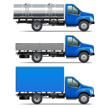 crisper: Vector Lorry Icons Set 2 isolated on white background