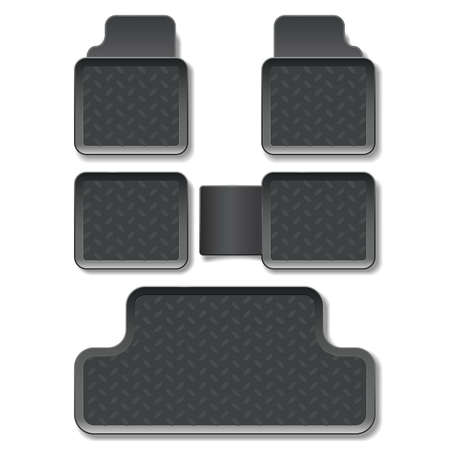 carpet flooring: Vector Car Mats isolated on white background