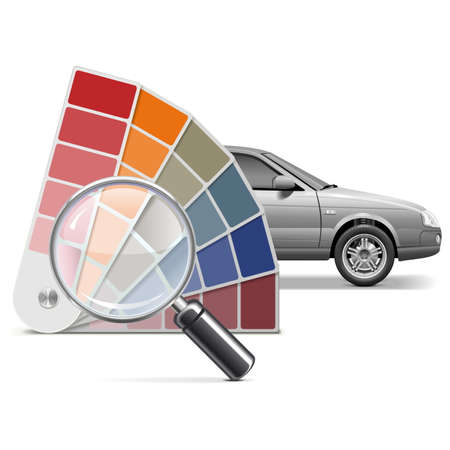color choice: Vector Color Choice for Car isolated on white background Illustration