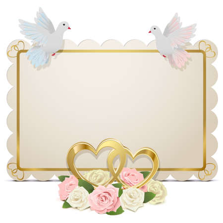 Vector Wedding Board isolated on white background Vector