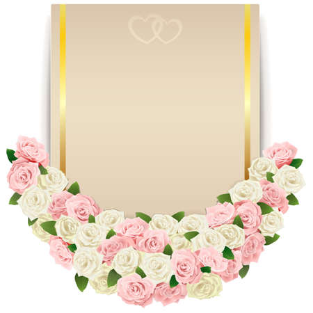 betrothal: Vector Wedding Flower Card isolated on white background