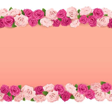 betrothal: Vector Flower Frame isolated on white background Illustration