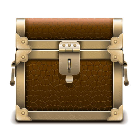 Vector Pirate Chest isolated on white background Illustration
