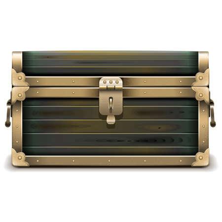 Vector legno petto isolato su sfondo bianco Archivio Fotografico - 36170808