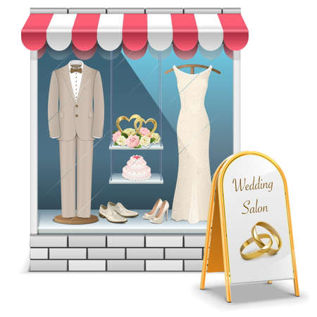 Vector Wedding Boutique isolated on white background