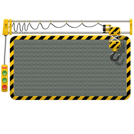 under control: Vector Telpher Frame isolated on white background Illustration