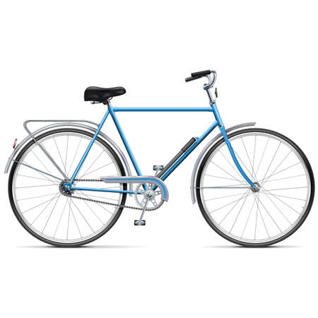 spoked: Vector Bicycle isolated on white background