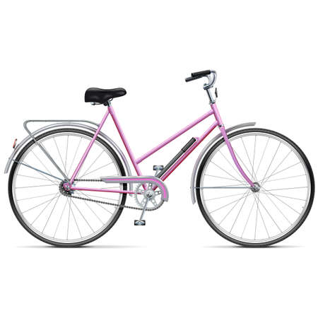 Vector Female Bicycle isolated on white background