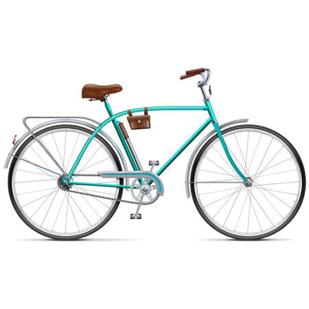 velocipede: Vector Bicycle with Rounded Frame isolated on white background