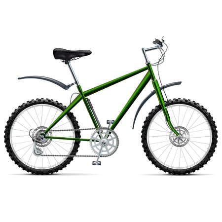 off road biking: Vector Mountain Bicycle isolated on white background