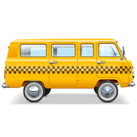excursion: Vector Taxi Car isolated on white background