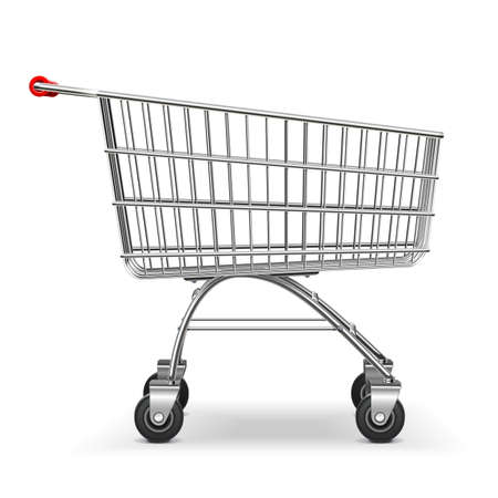selloff: Vector Supermarket Trolley isolated on white background