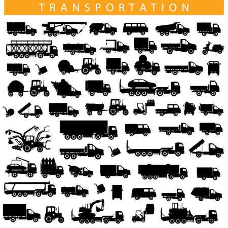 Vector Transportation Pictogram isolated on white background Illustration