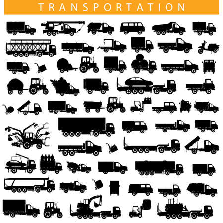 tipper: Vector Transportation Pictogram isolated on white background Illustration
