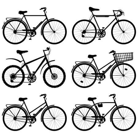 bicyclette: Vecteur de vélos Pictogramme isolé sur fond blanc Illustration