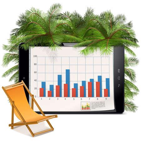 ベクトル ビジネス、白い背景で隔離の休暇の概念
