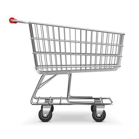 Vector Shopping Trolley auf weißem Hintergrund isoliert Standard-Bild - 41798293