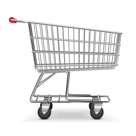 Vector Shopping Trolley isolated on white background Stock Illustratie
