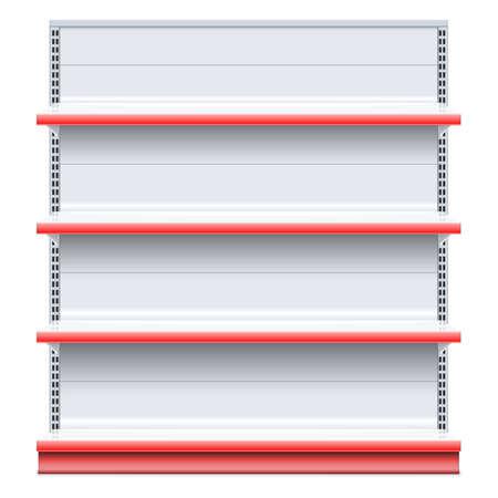 Vector Supermarket Shelf isolated on white background Illustration