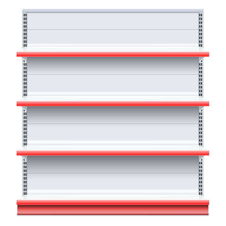 grocery shelves: Vector Supermarket Shelf isolated on white background Illustration