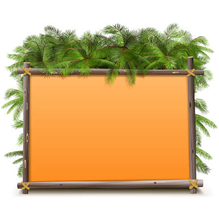 jungle vector: Vector Jungle Frame isolated on white background Illustration