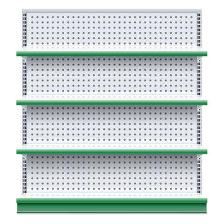 store shelf: Vector Supermarket Rack isolated on white background