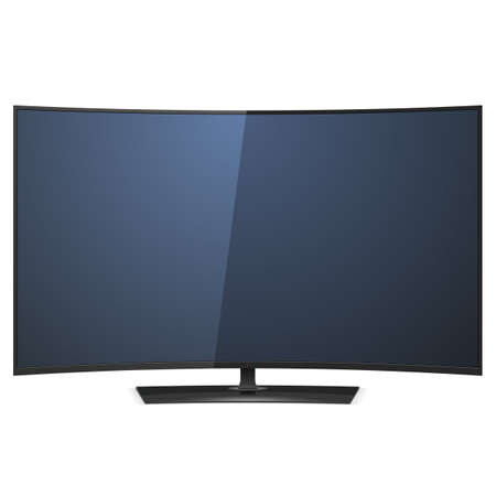 televisor: Vector Curved TV isolated on white background