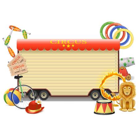 clown cirque: Vecteur Cirque Billboard isol� sur fond blanc