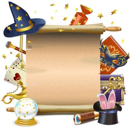 magia: Vector Magia desplazamiento aislados en fondo blanco Vectores
