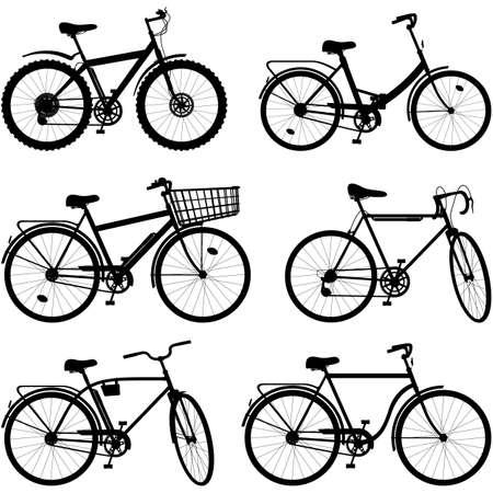 velocipede: Vector Bicycle Pictogram Set 2 isolated on white background Illustration
