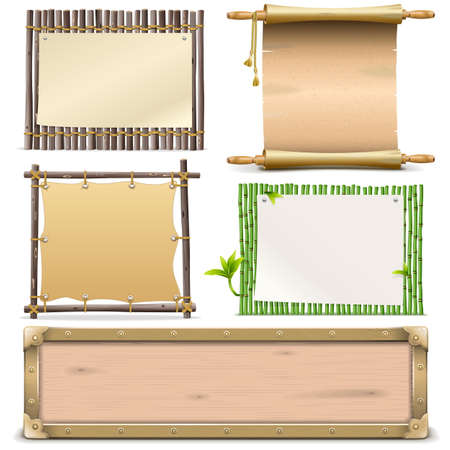 balk: Vector Boards Set 2 isolated on white background Illustration