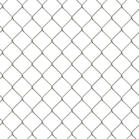 mesh fence: Vector seamless wire mesh fence isolated on white background Illustration
