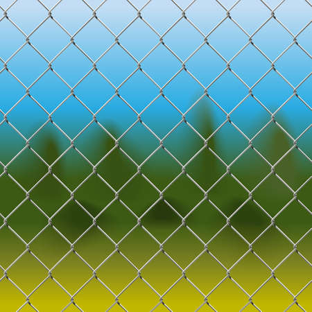 wire fence: Mesh Fence with Background