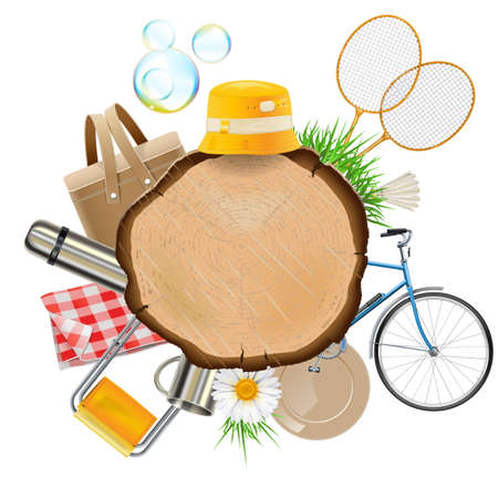 Vector Picnic Board isolated on white background