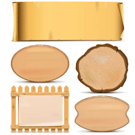 balk: Vector Boards Set 3 isolated on white background Illustration