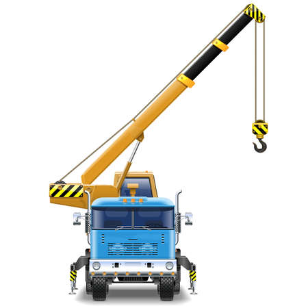 truck crane: Vector Truck Crane isolated on white background