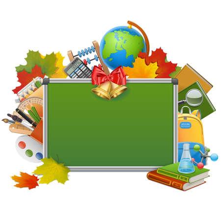 alumnus: Vector School Blackboard isolated on white background Illustration