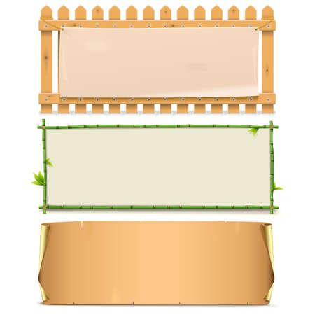 balk: Vector Boards Set 5 isolated on white background Illustration