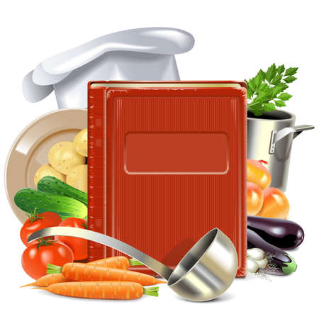 cooking book: Vector Cooking Book isolated on white background Illustration
