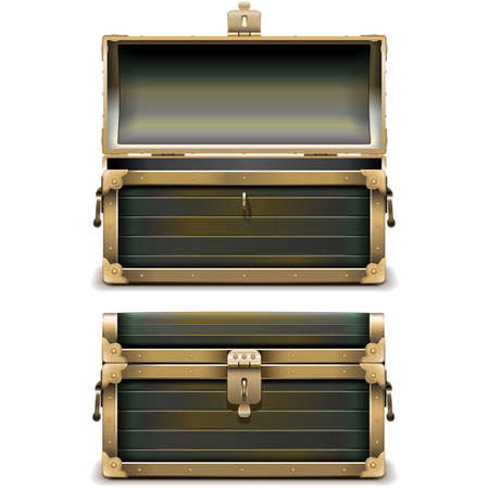 freebooter: Old Chest isolated on white background Illustration