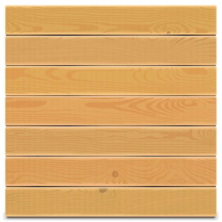 oak wood: Wooden Board isolated on white background Illustration